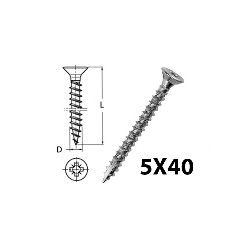 WOOD SCREW 5X40