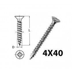 WOOD SCREW 4X40
