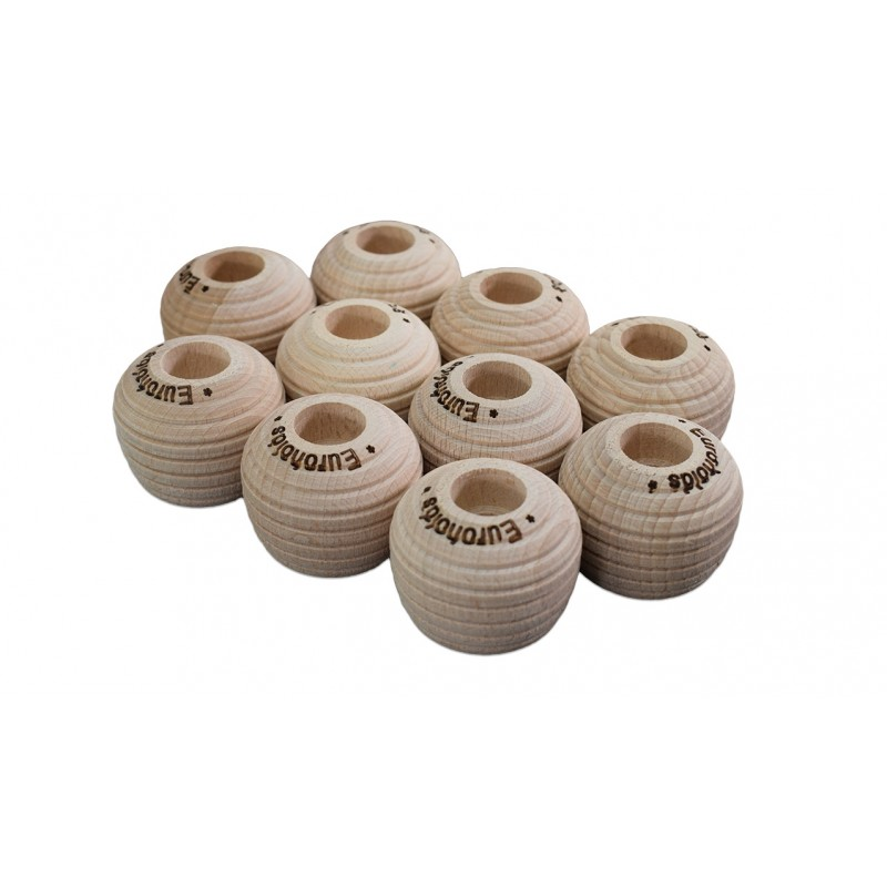 10 x WOODEN POSITIVE FOOTHOLDS