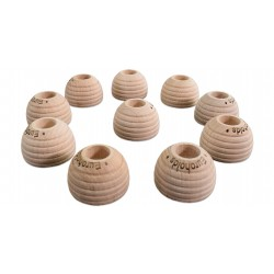 10 X WOODEN NEGATIVE FOOTHOLDS