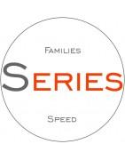 Presas de velocidad, presas infantiles, familias de presas organizadas por series
